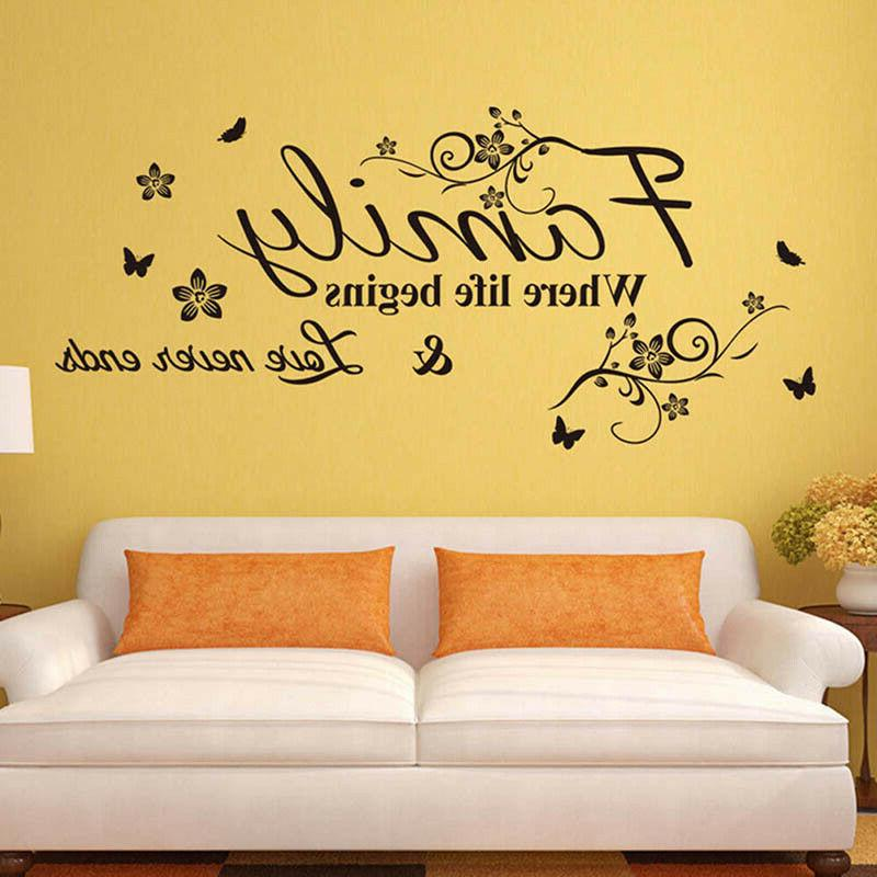 FAMILY Letter Stickers Home Living Room