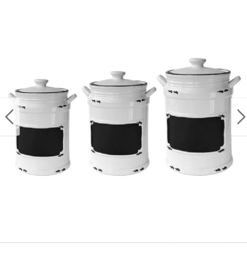 Farmhouse Kitchen Decor Vintage Country Style Canister Set 3