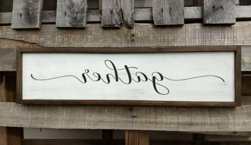 FARMHOUSE wood sign kitchen rustic home