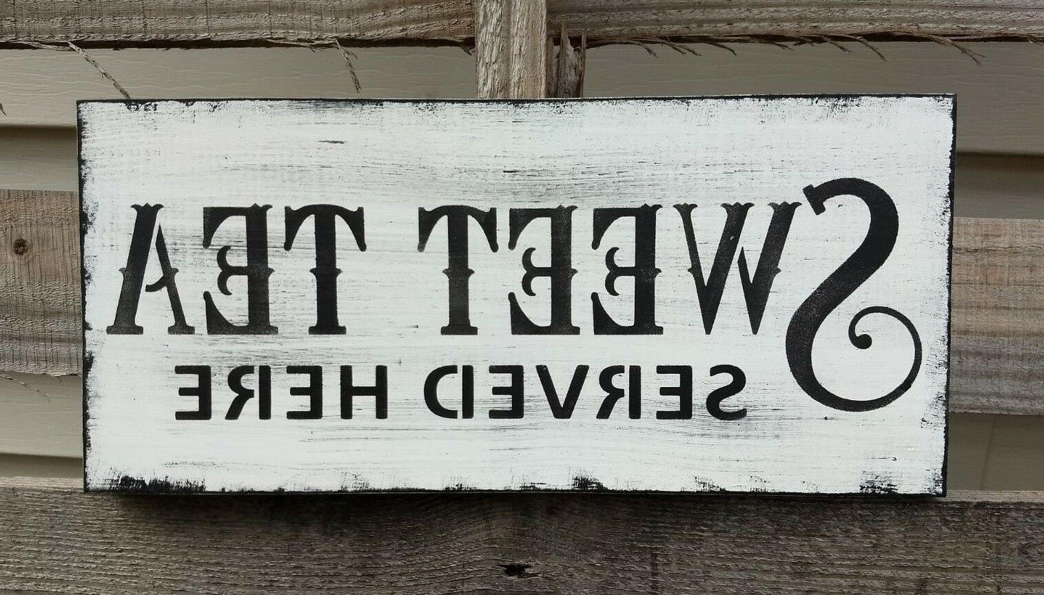 farmhouse sign TEA home decor rustic country
