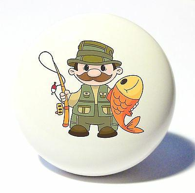 fisherman fish home decor ceramic kitchen knob
