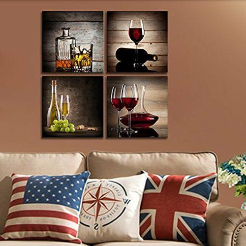 FRAMED Glass Canvas Prints Wall Art Kitchen Decor Home Picture