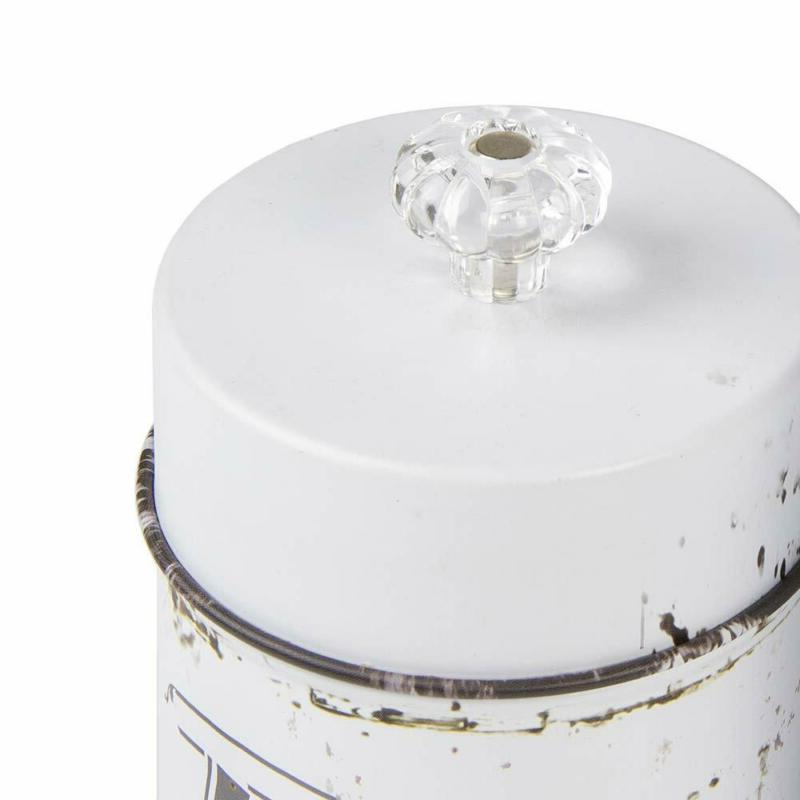 French Vintage Style White 4 Piece Canister Set