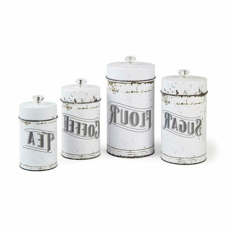 french country vintage style white 4 piece