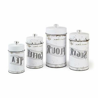 French Vintage White 4 Set
