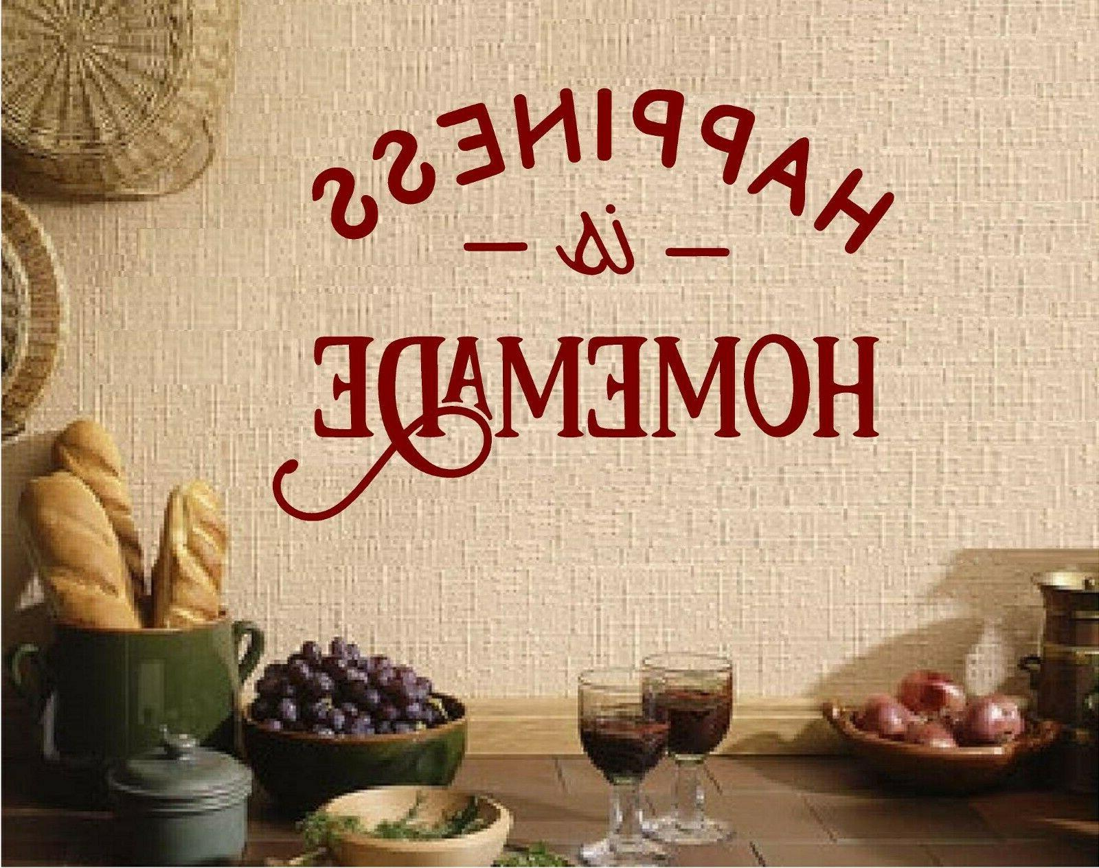 Happiness Kitchen Wall Decal Sticker Decor