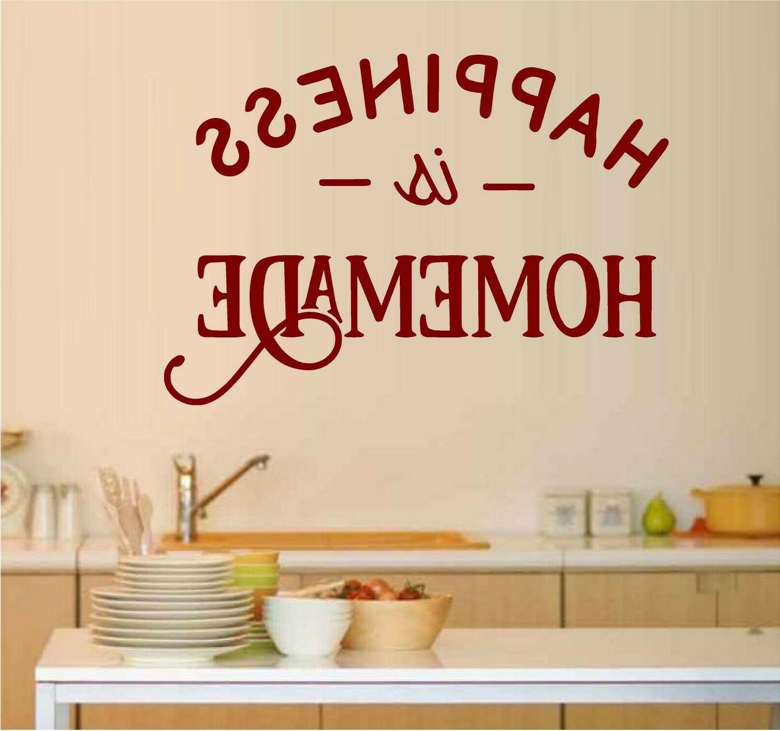 Happiness Kitchen Decal Sticker Home