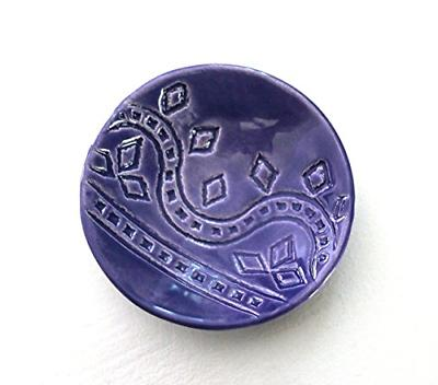 Indigo Ring Dish - Handmade Jewelry watercolor blue