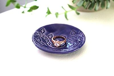 Indigo Ring Dish Handmade Jewelry Bowl watercolor