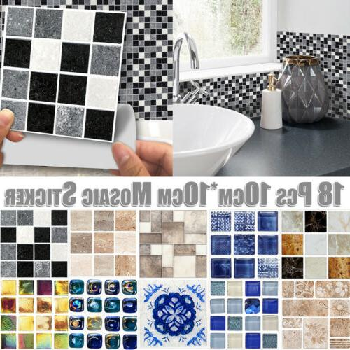 kitchen bathroom tile mosaic stickers self adhesive