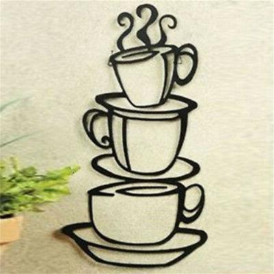 Kitchen.Coffee Cup Removable Art Vinyl DIY G3