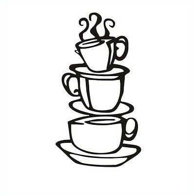 Kitchen.Coffee Cup Decal Removable G3