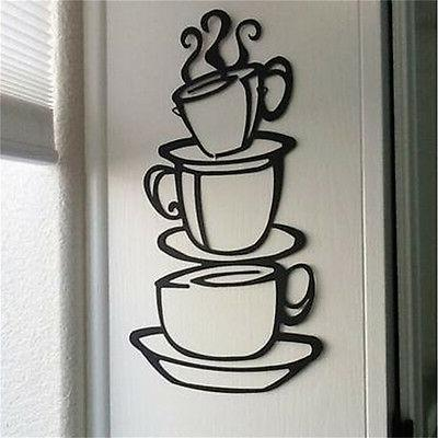 kitchen coffee house cup decal removable wall