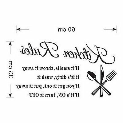 Kitchen Wall Vinyl Art Mural Decal Removable