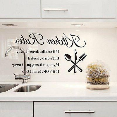 Kitchen Rules Wall Stickers Decor Vinyl Mural Decal Removable