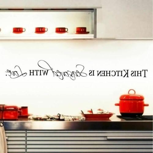 kitchen is seasoned with love kitchen wall