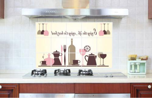 Kitchen Removable Stickers Wine Glass *