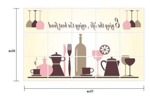 Kitchen Removable Wall Stickers *