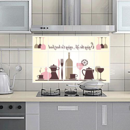 Kitchen Oilproof Stickers Decal Home Wine Art *