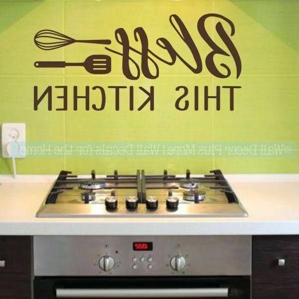 kitchen quote stickers bless this kitchen wall