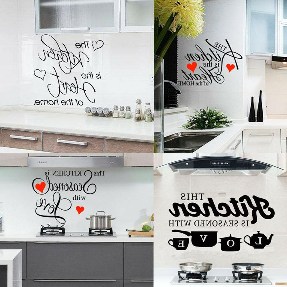 kitchen vinyl wall decal home removable sticker