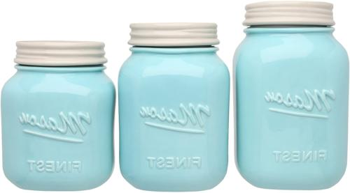 Sparrow Mason Jar Kitchen Canister - Set 3 Canisters