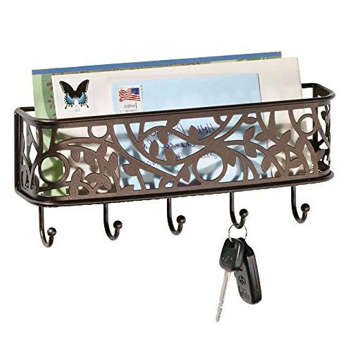 Mail Letter Holder Key for wall Rack Organizer for Entryway