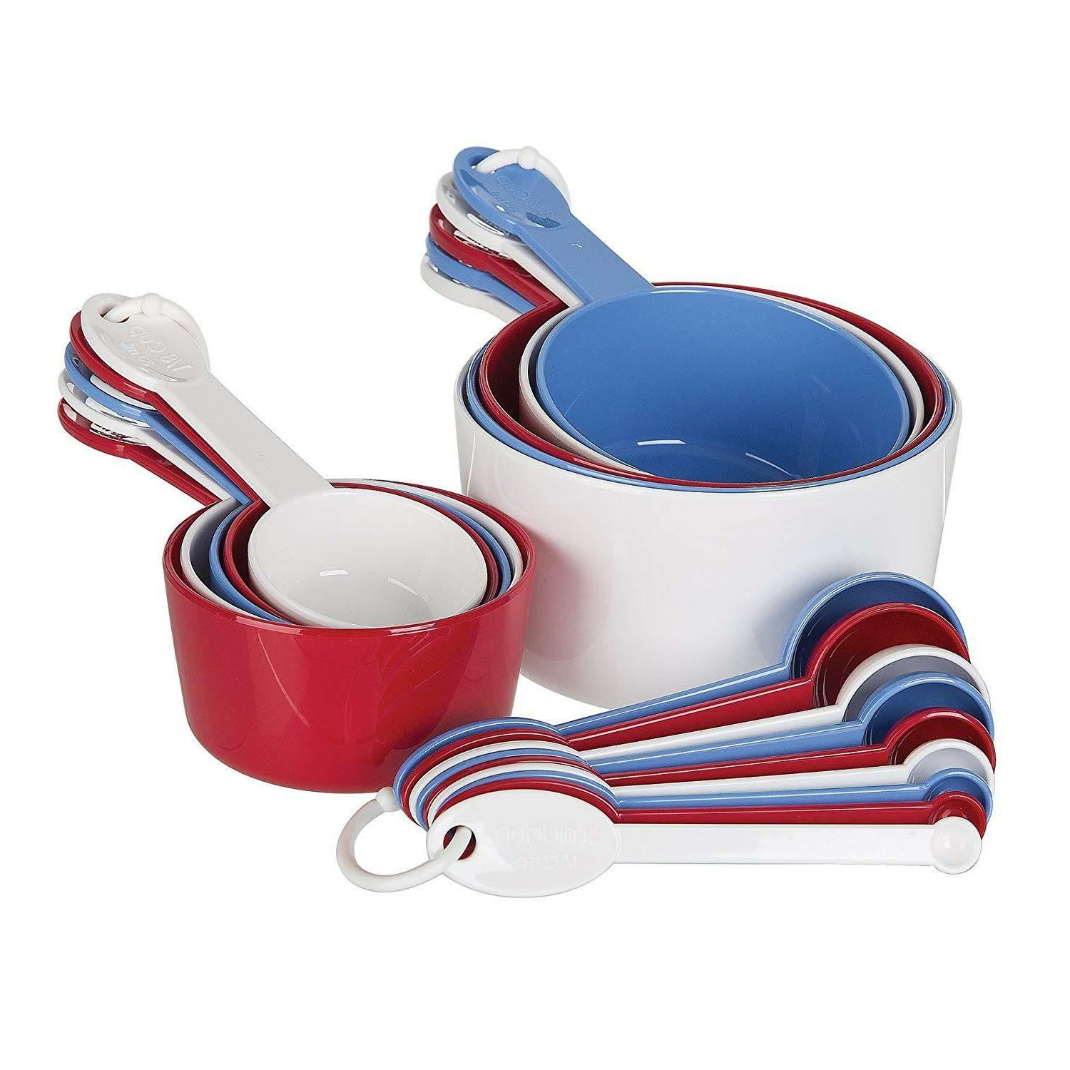 Measuring Cup and Spoon Set Kitchen Weight Utensil New
