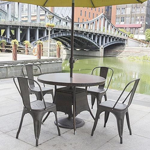 Furmax Trattoria Chair Bistro Cafe Metal Chairs Metal