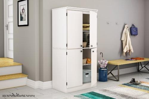 South Shore Storage Cabinet with Adjustable Shelves, Pure