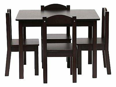 New Tot Tutors Wood play table desk 4 Chairs