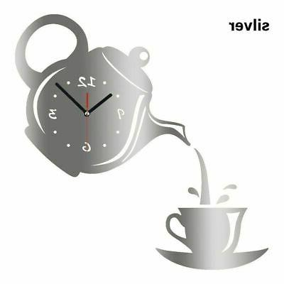 New Clock Cup Shaped Living Room Decorate