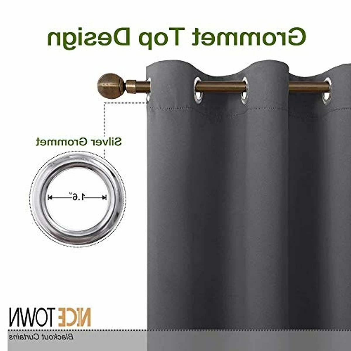 NICETOWN Thermal Insulated Blackout Curtains Bedroom (2 W42