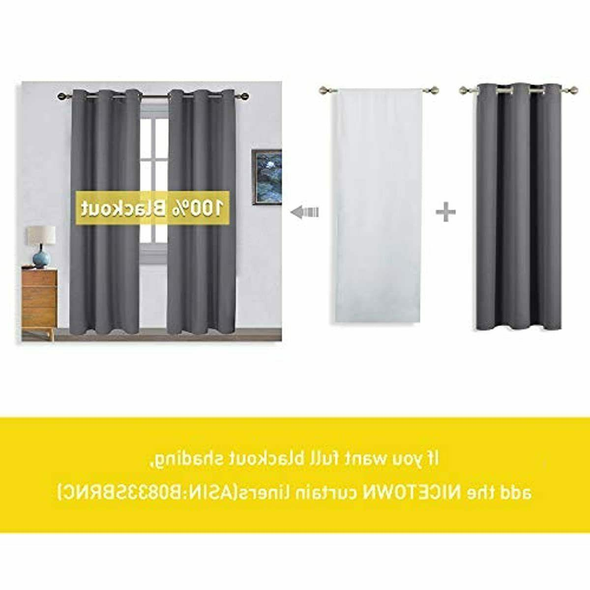 NICETOWN Thermal Blackout Curtains (2 W42