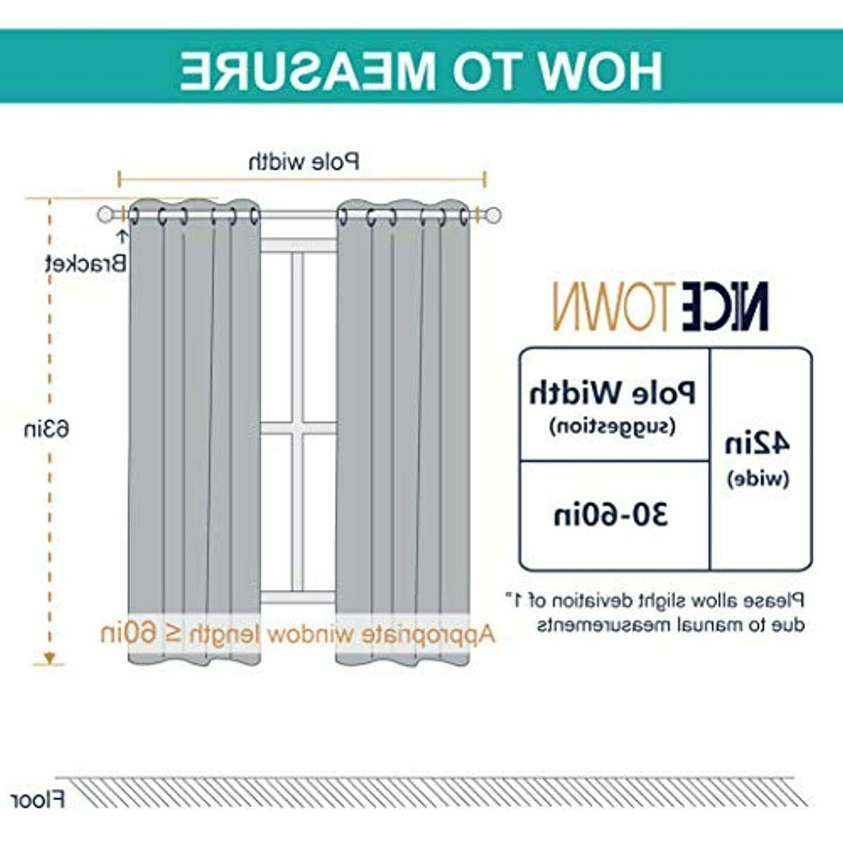 NICETOWN Blackout Curtains for (2 Panels,
