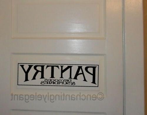 pantry vinyl decal wall sticker words lettering
