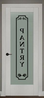 pantry vinyl wall decal glass door kitchen