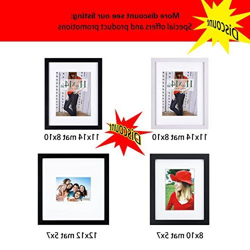 RPJC 5x7 Picture Made Solid High Definition Glass for Table Top Wall mounting Black