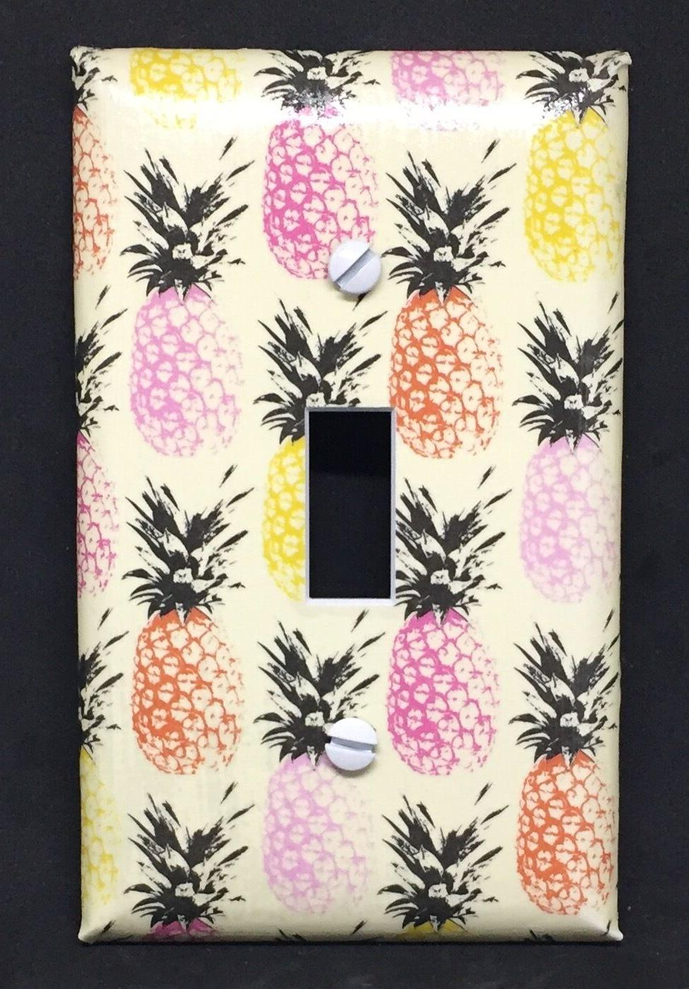pineapple light switch cover plates kitchen decor