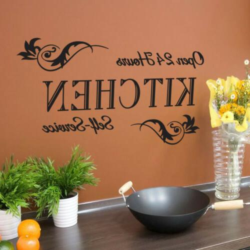Quote Open Kitchen Vinyl Black Art