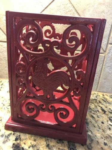 Red Holder Cooking Cast Iron
