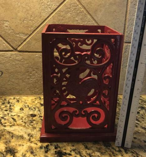 Red Rooster Holder Decorative Cast Iron