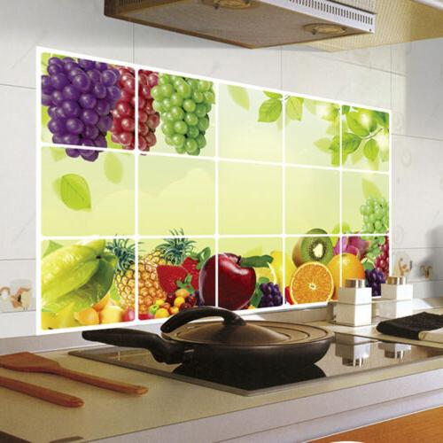 Removable Wall Stickers Vinyl Art Decor Home Decal Kitchen Anti Oil Splatter Hot