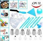 51 pcs Russian Icing Piping Nozzles Cake Decoration Tips Bak