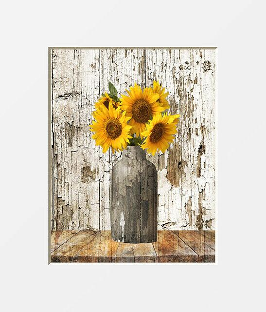 rustic floral country farmhouse sunflower home decor