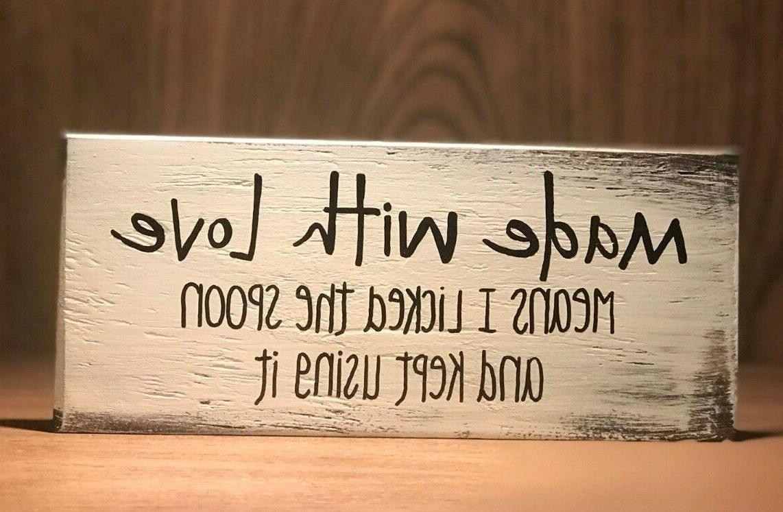 rustic wood kitchen sign made with love