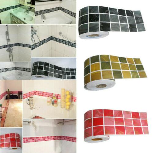 self adhesive mosaic wall stickers kitchen waterproof