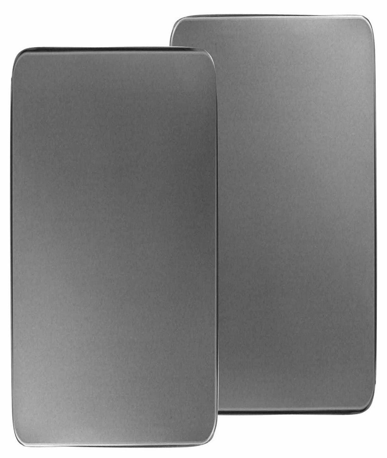 SET OF 2 STAINLESS STEEL RECTANGULAR STOVE BURNER COVERS GAS