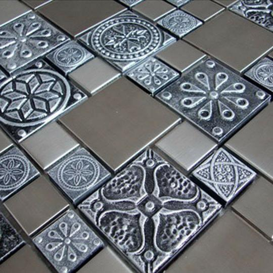 Stainless Steel Metal Tile For Fireplace &