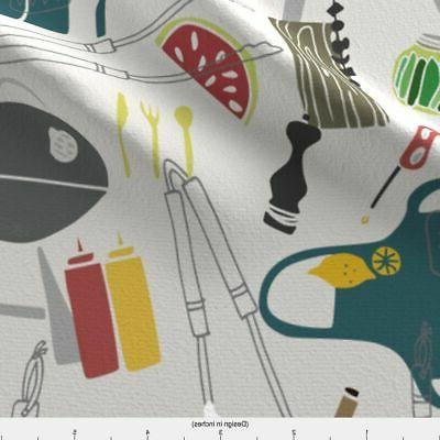 Summer Decor Printed by Spoonflower BTY